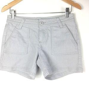 PrAna Grey Pin Stripe Shorts